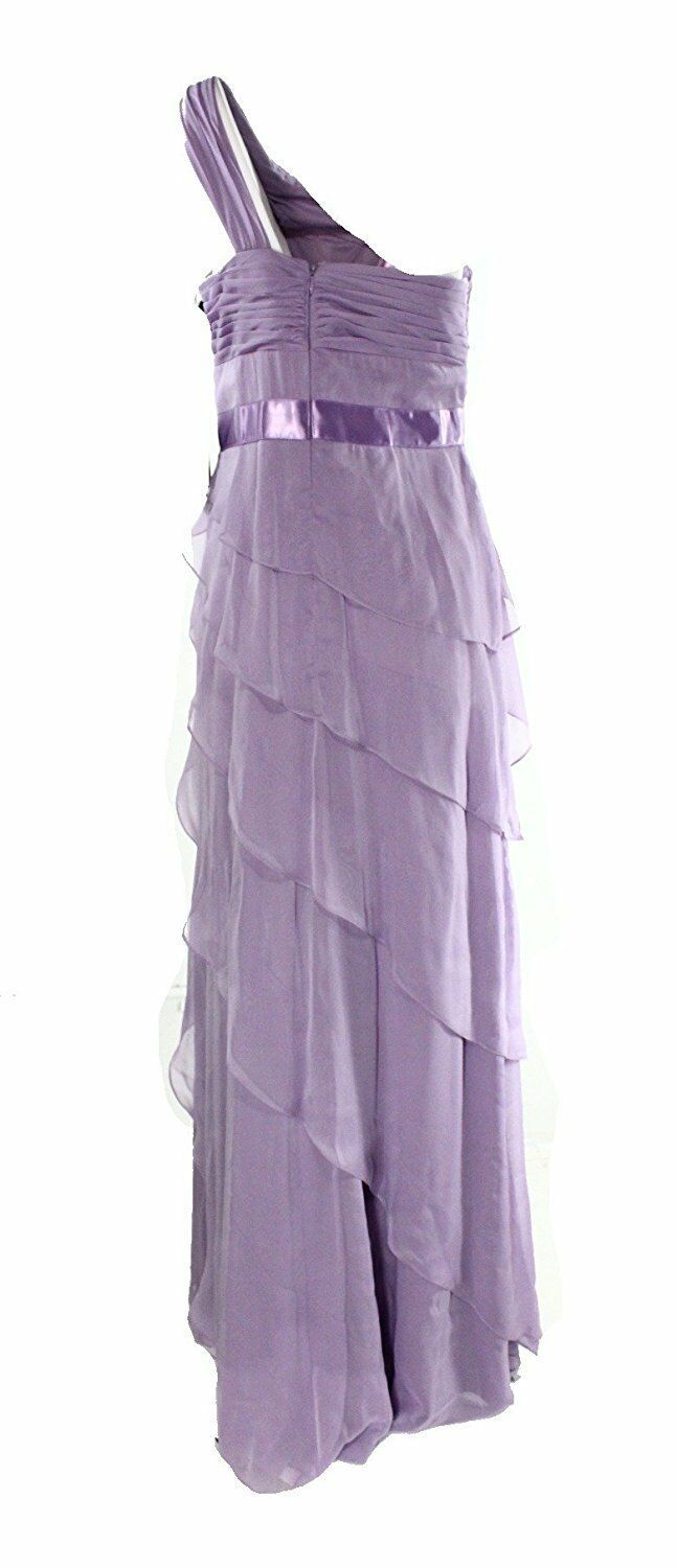 2733-2  Adrianna Papell Lilac Womens Tiered Ball Gown Dress Purple 10  $199 image 2