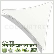 ColourTree 16' x 16' x 22.6' Right Triangle White Sun Shade Sail Canopy Awning S image 2