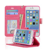 Navor Protective Flip Wallet Case for iPhone 6/6S [4.7 inch] - Hot Pink ... - $13.50