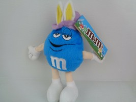 M&M'S PLUSH Blue Candy Advertising Character Toy Easter - $9.89