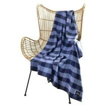 Pendleton Home Collection Luxe Rob Roy Blue Plaid Throw Blanket 50 X 70 - $67.88