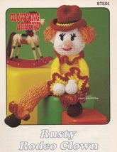 Rusty Rodeo Clown, Annie's Attic Clowning Around Crochet Pattern Leaflet 87E01 - $3.95