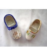 Miniature Ceramic Porcelain Hand-Painted Dutch Shoes Clogs   - $10.99