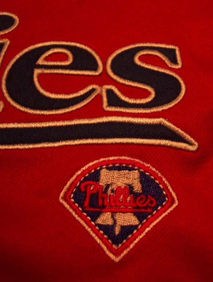 WOMEN'S MISSES PHILADELPHIA PHILLIES MLB BASEBALL JERSEY LARGE NEW w/ TAG image 3