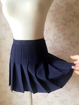 NAVY BLUE Girl School Skirt Tennis Skirt Navy High Waisted Pleated School Skirt image 3