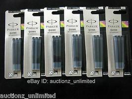 Parker Quink Ink Cartridge - 18 Cartridges, Black, New Sealed 100% Original - $11.85