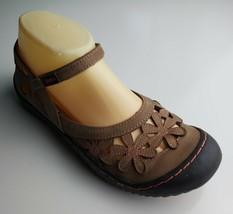 "Jambu ""Blossom"" Women's Brown & Pink Flower Pattern Mary Jane Sandals Size 8 - $37.61"