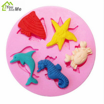 3D Sea Horse And Crab Fondant Mold Silicone DIY Chocolate Cake Decoratin... - £1.29 GBP