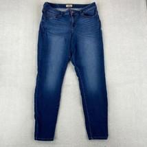 LEI Skinny Ankle Jeans Juniors 15 Regular Blue Cotton Blend Mid Rise 5-P... - $18.95