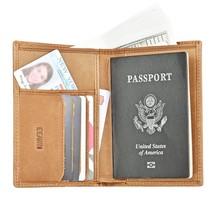 Travel Wallet Passport Holder Organizer Leather Cover Case RFID Blocking... - €11,17 EUR