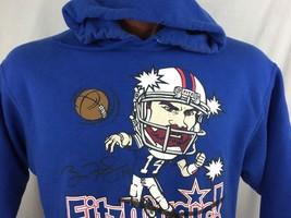 Ryan Fitzpatrick Buffalo Bills Blue Hoodie Sweatshirt Hoodie L Large - $33.93