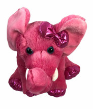 "Aurora World Girlz Nation Hot Pink Elephant Plush Stuffed Animal 10"" - $17.73"