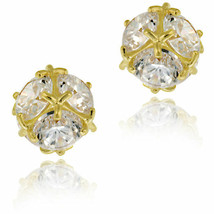 14k Yellow Gold Cubic Zirconia Ball Stud Earrings - $60.14