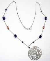 925 Silver Necklace, Lapis Lazuli, Pendant Locket Tree Of Life image 3
