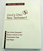 King James Version God's Child New Testament Little Bible Gold Gilt  - $9.75
