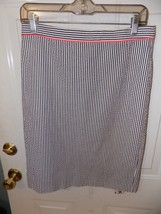 J.Crew No. 2 Pencil Skirt Candy Striped Seersucker Neon Pipe Size 4 Wome... - $20.75