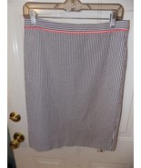 J.Crew No. 2 Pencil Skirt Candy Striped Seersucker Neon Pipe Size 4 Wome... - $20.25