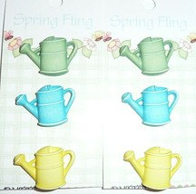 Cute 3D Detailed Watering Can Watering Pot Realistic Shank Buttons (6) 1... - $4.64