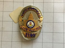 Obsolete Columbine Valley Colorado Police Department Officer Badge #2109 - $300.00