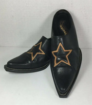Skechers Somethin' Else Womens Black Leather Mules With Stars – 8.5 - $29.09