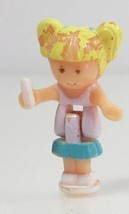 1992 Vintage Lot Polly Pocket Doll Stampin' School - Tiny Tina Bluebird Toys - $6.50