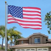 25 FT. ALUMINUM FLAGPOLE (2) 3'x5' FLAGS (1)4'x6' FLAG &(2)U.S.CAR ANTEN... - $177.21