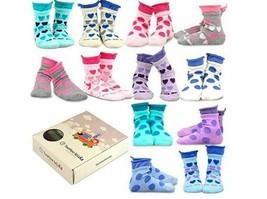 TeeHee Girls Cotton Fashion Crew Socks 12 Pair Pack