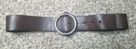 New NWOT Michael Kors Fashion Brown Leather Ring Belt M - $18.69