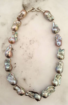 Natural Freshwater Baroque Pearl Necklace With ... - $529.00