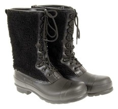 Hunter Women's Original Shearling Boots Waterpoof Winter Boots In Black 9 - $73.59
