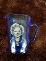 Vintage 1930's Hazel Atlas SHIRLEY TEMPLE RITZ COBALT BLUE PITCHER FREE ... - $13.05