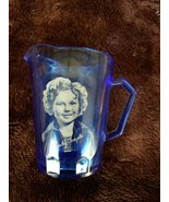 Vintage 1930's Hazel Atlas SHIRLEY TEMPLE RITZ COBALT BLUE PITCHER FREE ... - $13.74