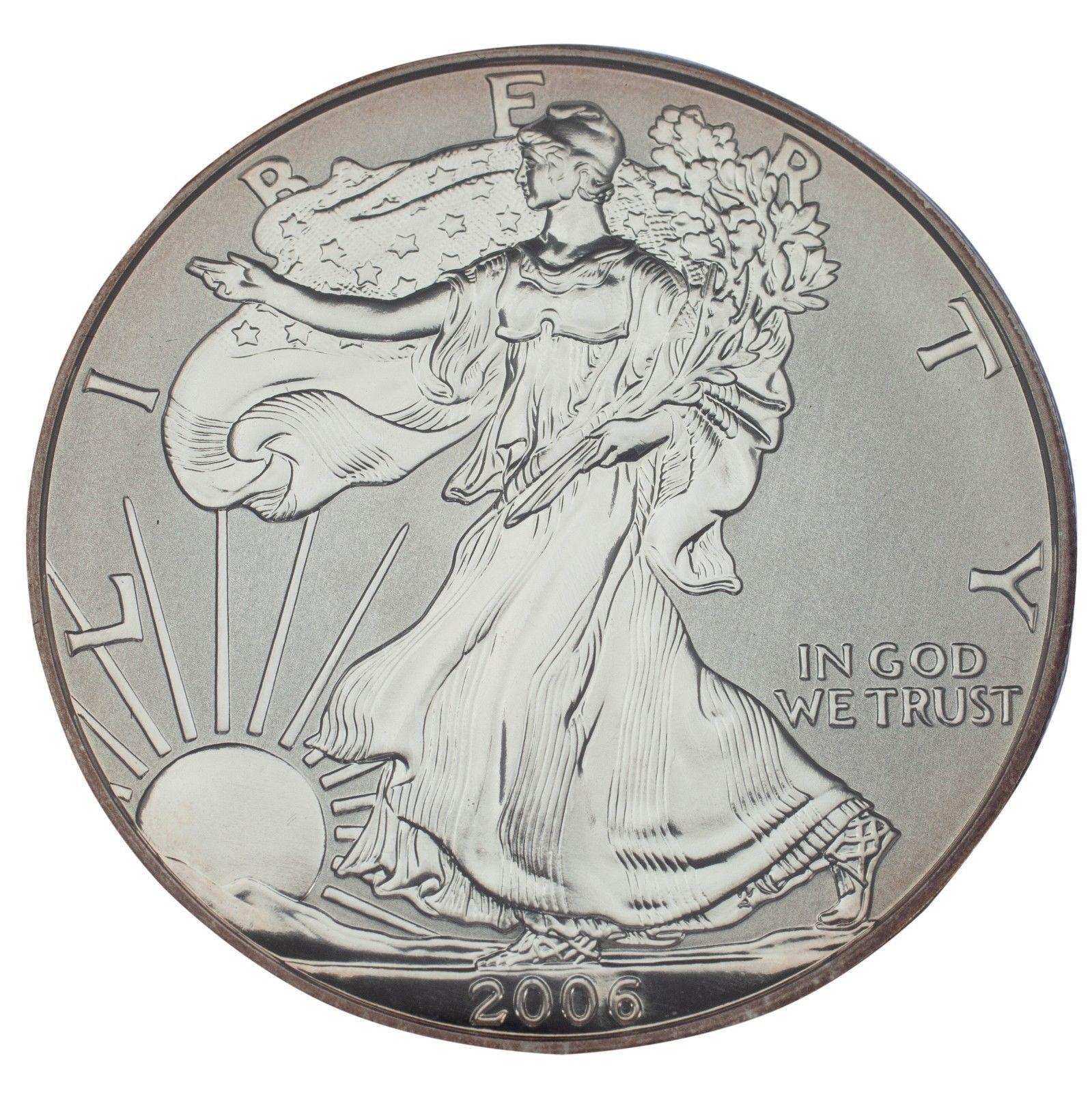 8 2006 American Silver Eagle 20th Anniversary Mint Box COA NO Coins NO Capsules