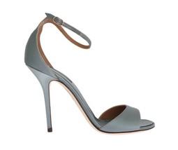 Dolce & Gabbana Women Gray Satin Ankle Strap Heels Pumps EU39/US8.5 - $199.96