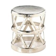 Garden Stool, Hammered Drum Decorative Foot Metal Portable Outdoor Round... - $149.99