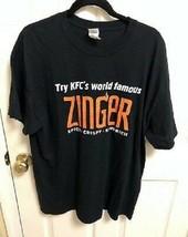 KFC's World Famous Zinger Spicy Crispy Sandwich T-Shirt Employee Uniform Sanders - £10.90 GBP