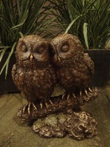 """Top Collection 5""""5"""" Owl Lovers on Tree Branch Statue in Cold Cast Bronze - $57.75"""