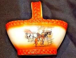 Czechoslovakia Ceramic Basket Decor - AA18-1368-B Vintage image 1