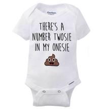 Theres a Number Twosie in My Onesie Gerber Onesie | Cute Funny Poop Baby... - $5.99+
