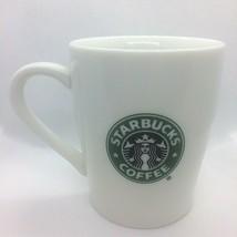 Starbucks White Coffee Mug Cup Green Mermaid Siren Logo 2007 Cafe Latte 8 oz  - $14.03