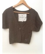 JUNIORS SIZE MEDIUM BROWN KNIT CROP SHORT SLEEVE SWEATER ABERCROMBIE & F... - $15.95