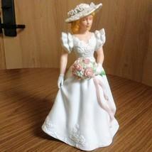 Vintage Avon 1986 Summer Bride Hand Painted Fine Porcelain Figurine  image 1