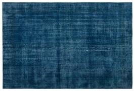 Bespoky Vintage Handwoven Kilim Rug Turquoise Large Size 6'11'' X 10'2'' Ft - $3,554.00