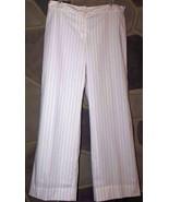 ANN TAYLOR LOFT Women's Size 8 White Striped Dress Casual Fully Lined Pa... - $22.24