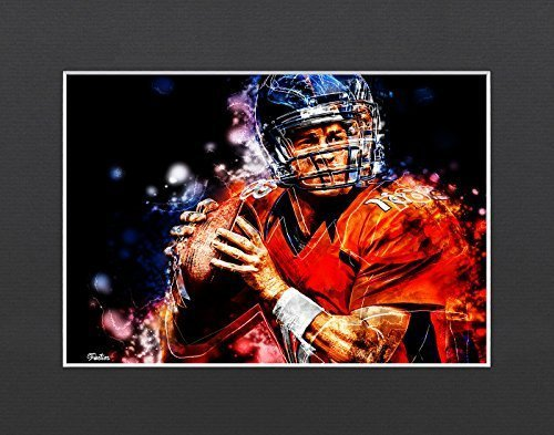 "Peyton Manning - Denver Broncos #1 Exclusive Artwork by ""Fantics"" 8x10 Matted to"