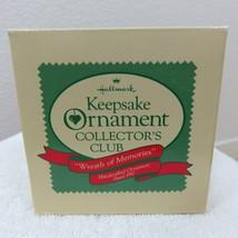 Vintage 1987 Hallmark Keepsake Ornament Wreath of Memories in Original Box image 2