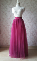 Full Tulle Maxi Skirt Plus Size Floor Long Tulle Skirt Wedding Guest Maxi Skirts