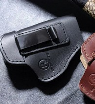 Universal Leather IWB Gun Holster for Concealed Carry, Universal Fit (BL... - $24.65