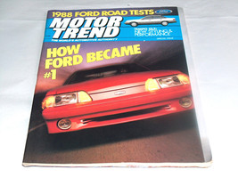 1987 Motor Trend Car Truck Vehicle Special Issue Magazine How Ford Became #1 One - $10.15