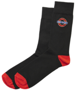 TFL™6307 Ladies Licensed Mind the Gap Roundel™ Embroidery Sock Size 4-7 - $5.99